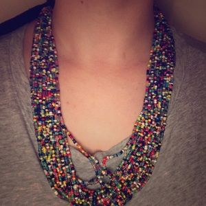 Beaded adjustable necklace